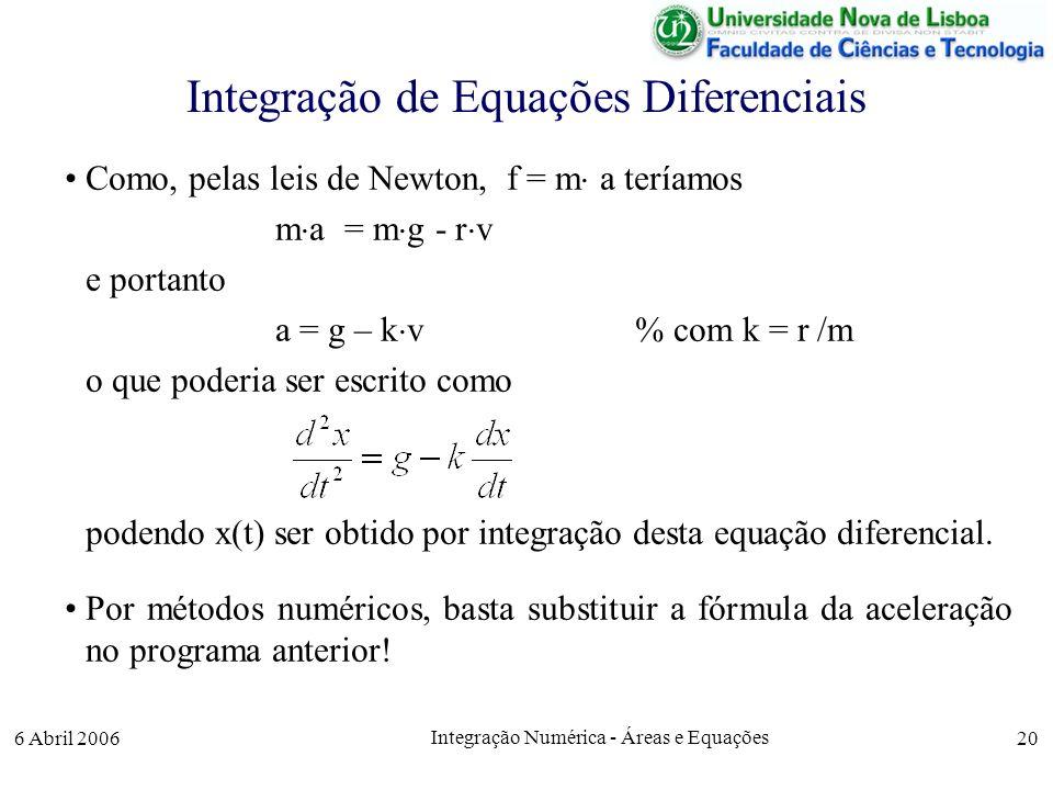 Integração de Equações Diferenciais