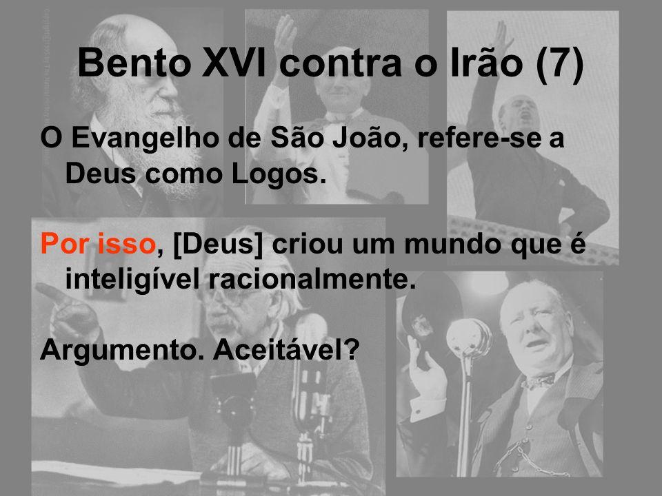 Bento XVI contra o Irão (7)