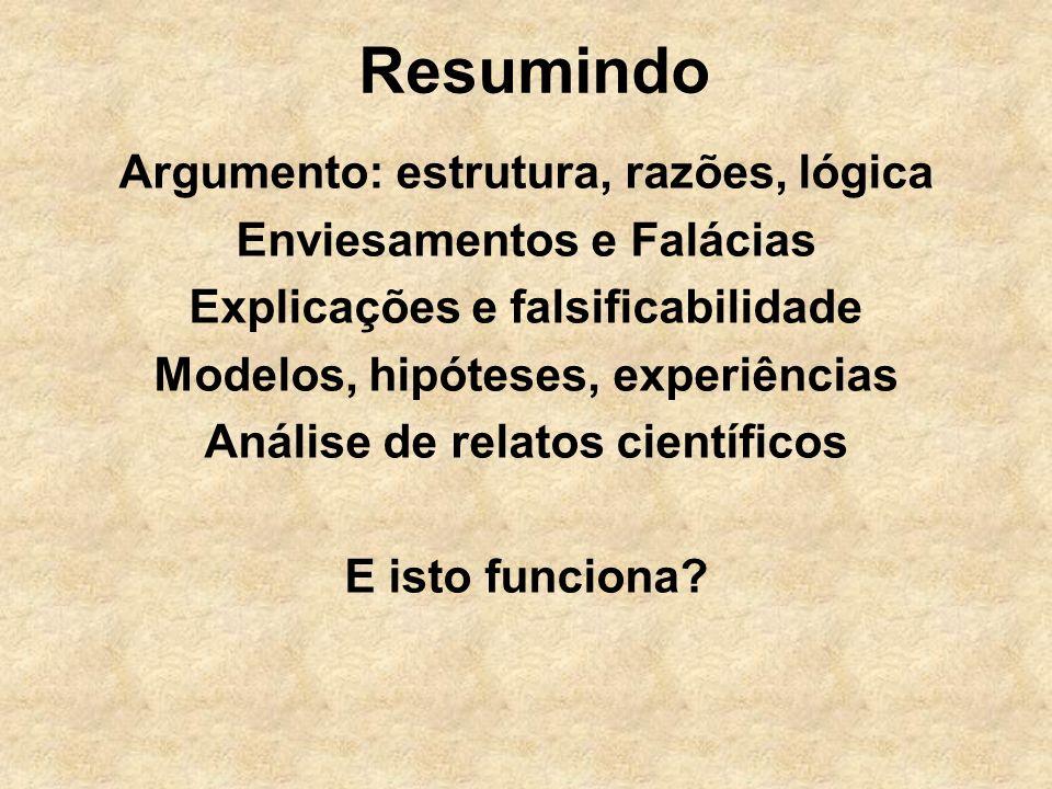 Resumindo Argumento: estrutura, razões, lógica