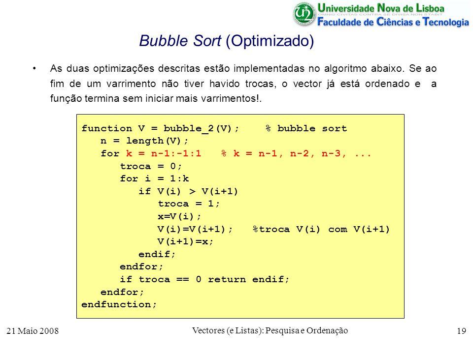 Bubble Sort (Optimizado)