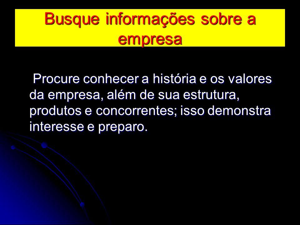 Busque informações sobre a empresa