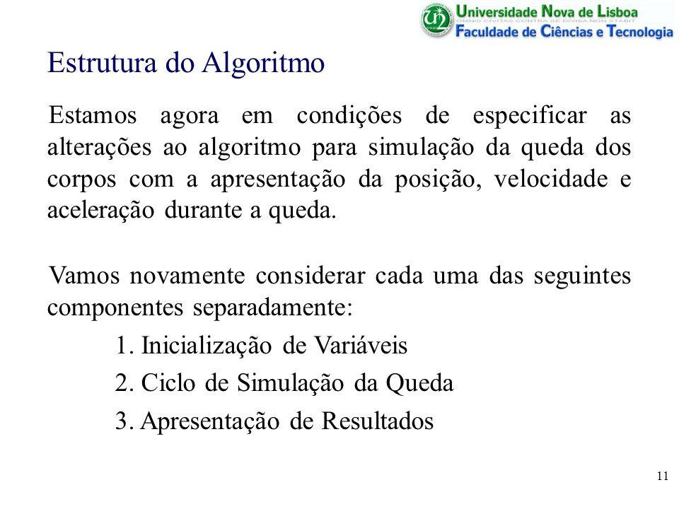 Estrutura do Algoritmo