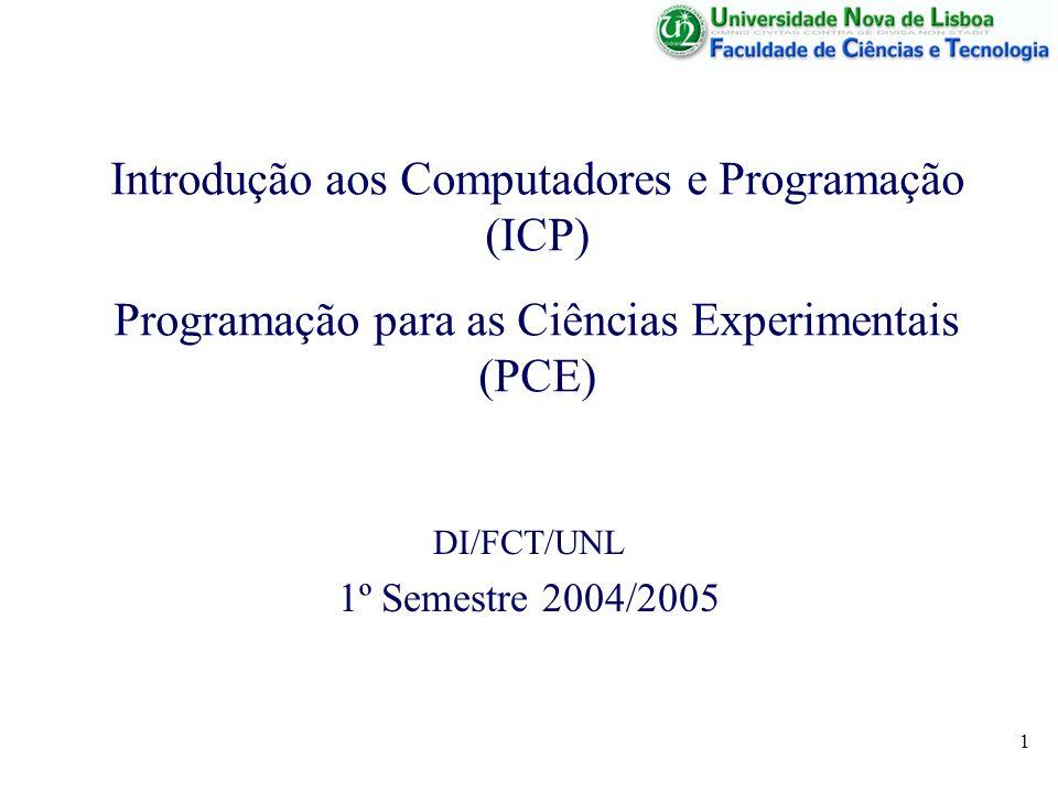 DI/FCT/UNL 1º Semestre 2004/2005