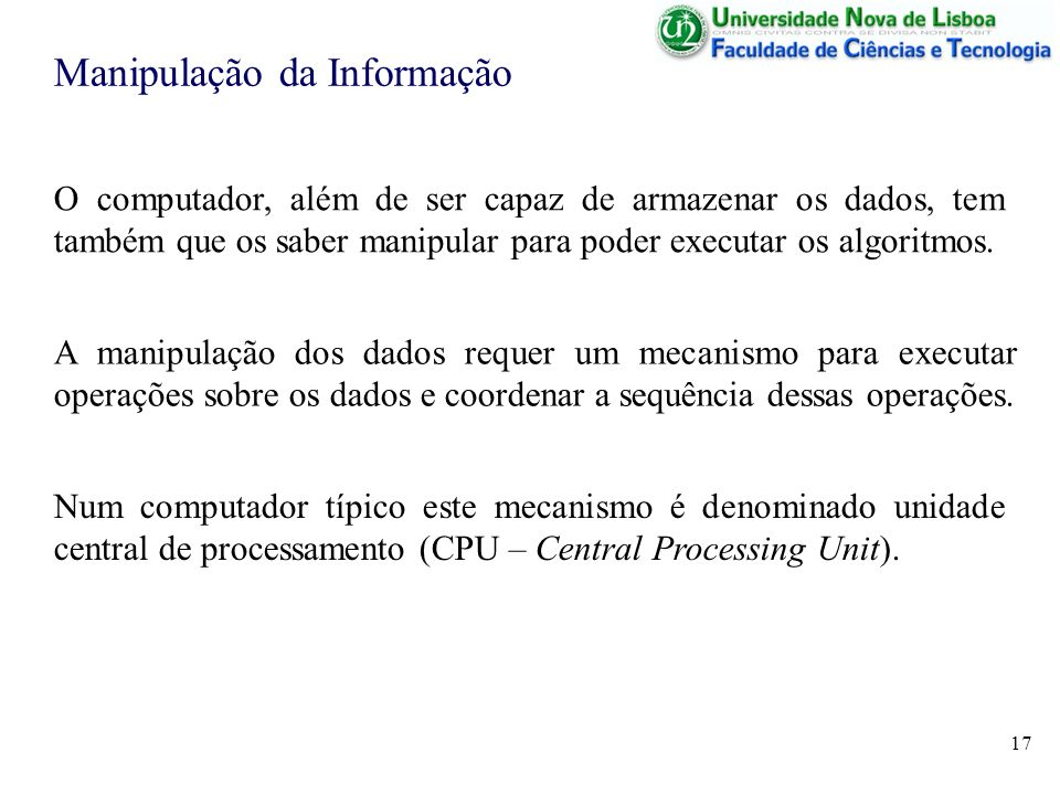 Manipulação da Informação