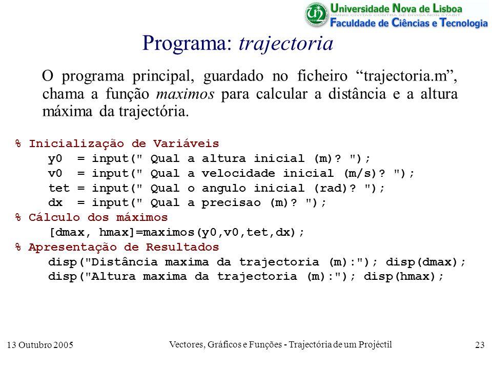 Programa: trajectoria
