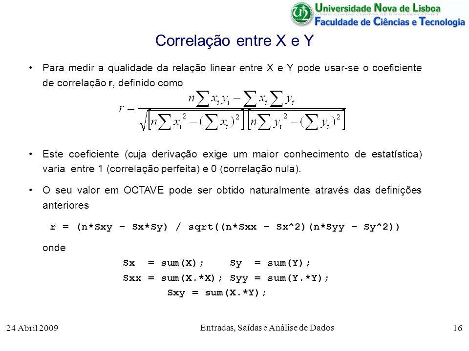r = (n*Sxy – Sx*Sy) / sqrt((n*Sxx – Sx^2)(n*Syy – Sy^2))