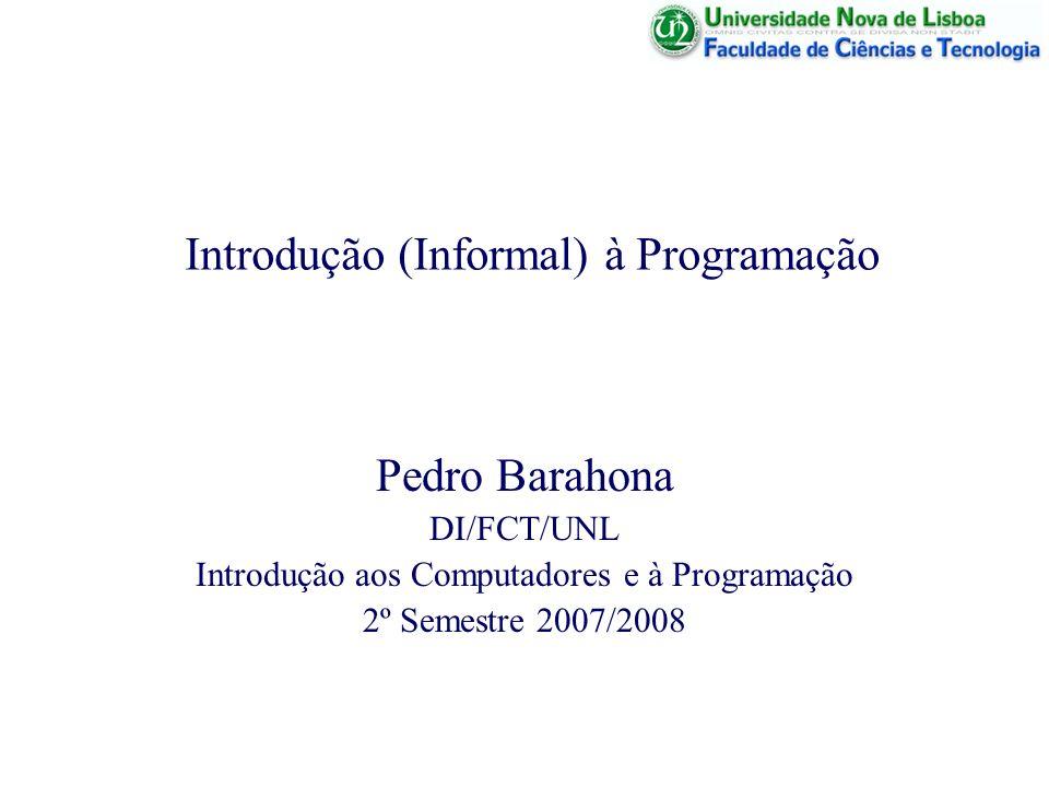 Introdução (Informal) à Programação