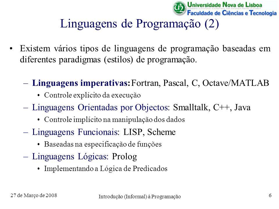 Linguagens de Programação (2)