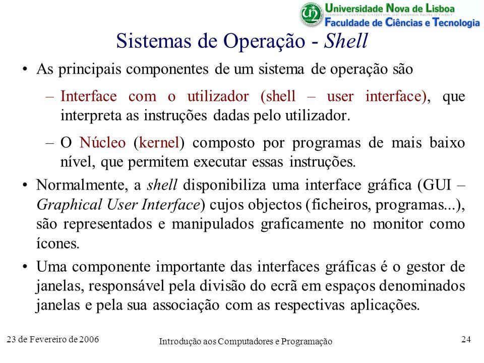 Sistemas de Operação - Shell