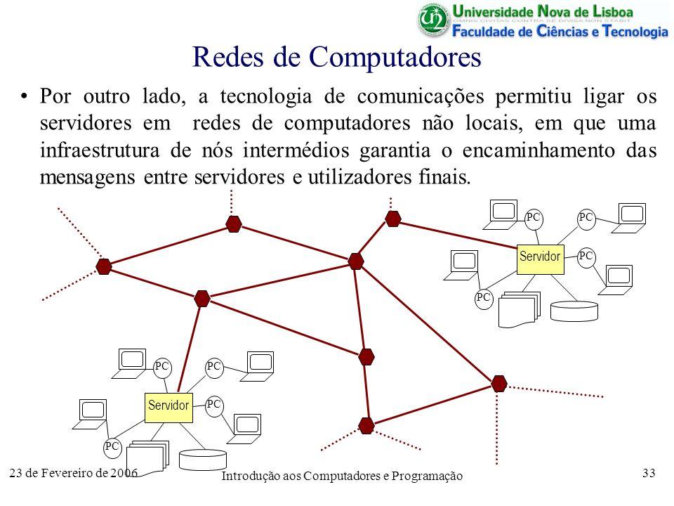 Introdução aos Computadores e Programação