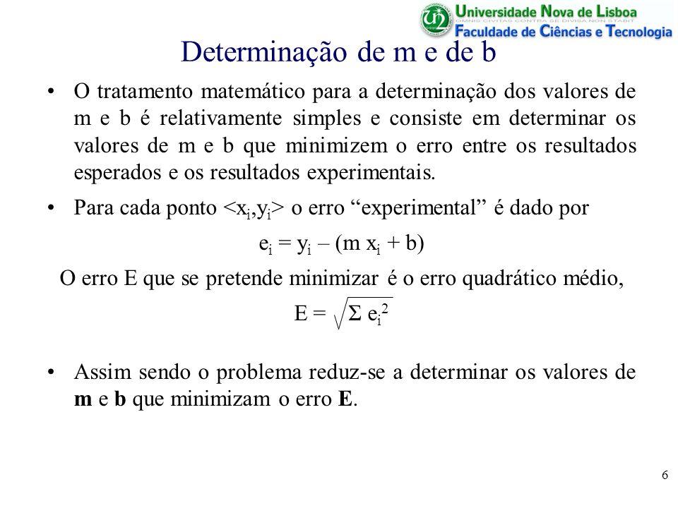 O erro E que se pretende minimizar é o erro quadrático médio,
