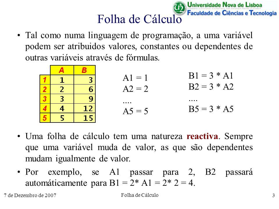 Folha de Cálculo