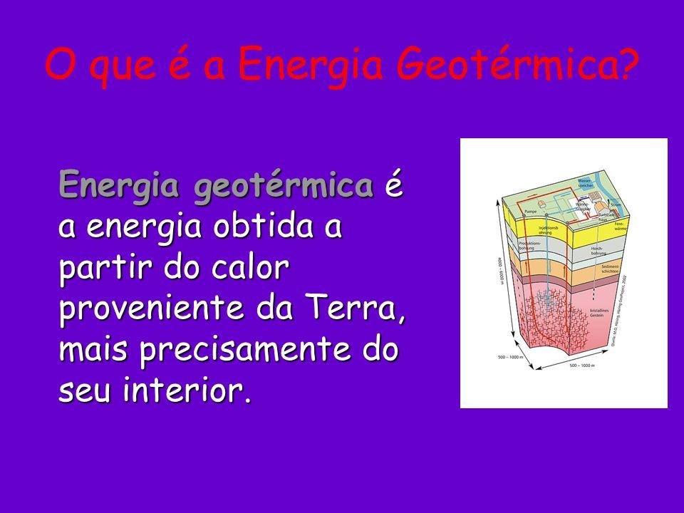 O que é a Energia Geotérmica