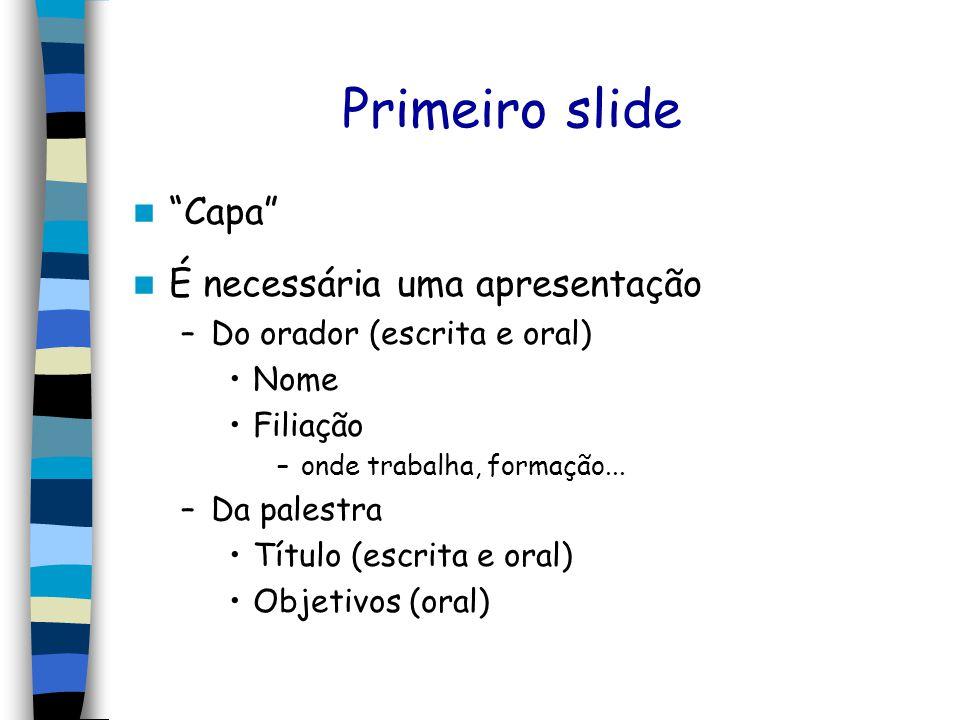 O que deve ter em uma apresentação de slides
