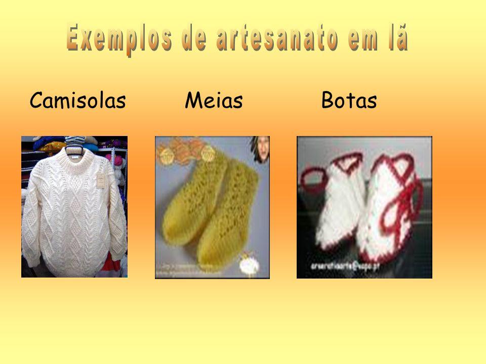 Exemplos de artesanato em lã
