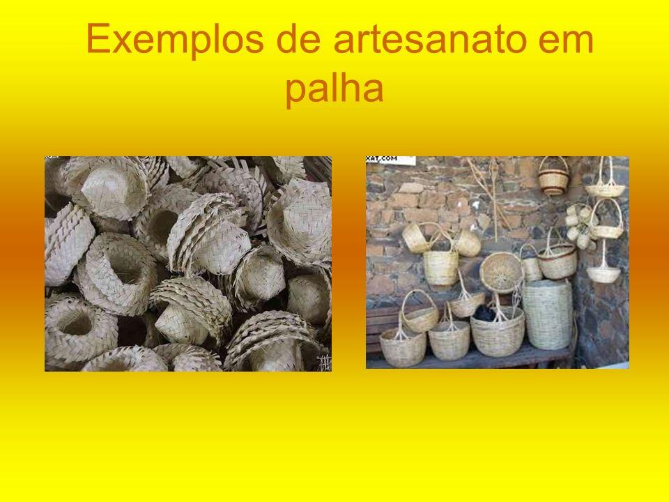 Exemplos de artesanato em palha