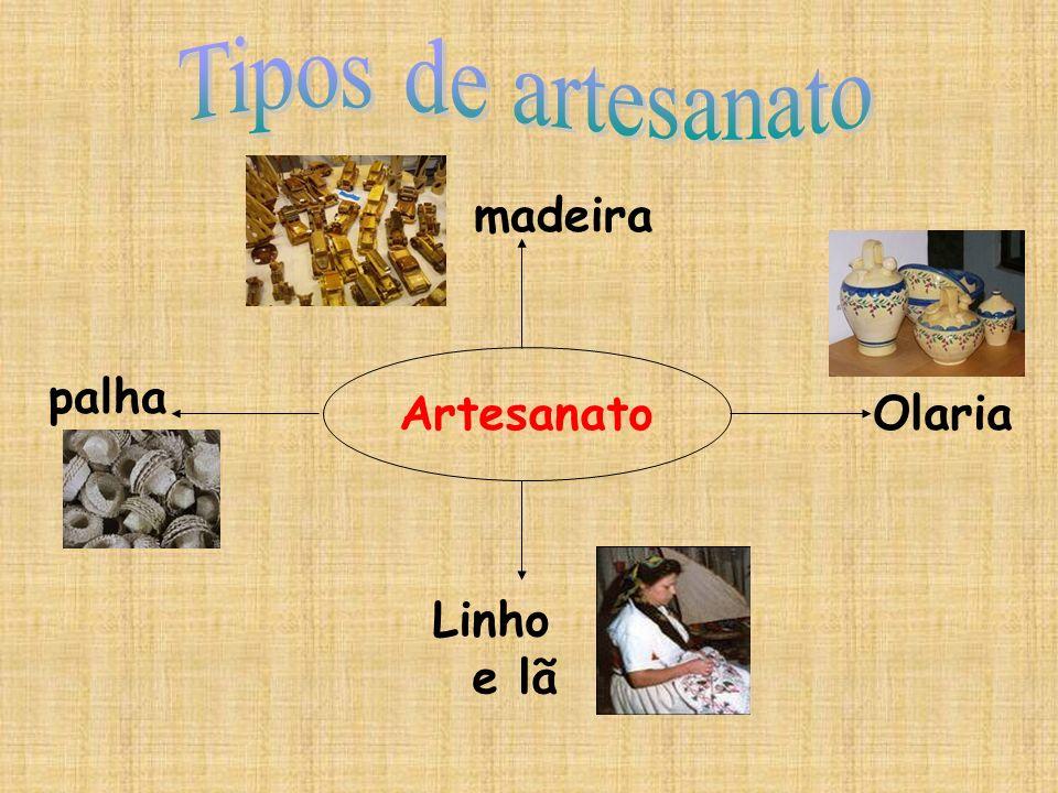 Tipos de artesanato madeira palha Artesanato Olaria Linho e lã