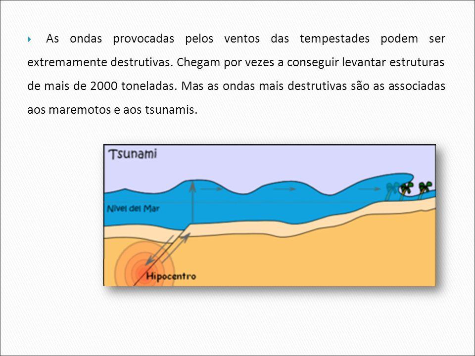 As ondas provocadas pelos ventos das tempestades podem ser extremamente destrutivas.