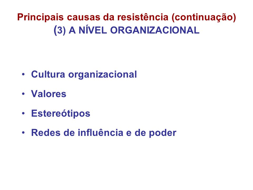 Cultura organizacional Valores Estereótipos