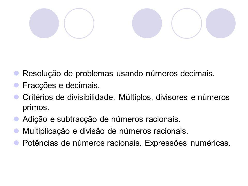 Resolução de problemas usando números decimais.