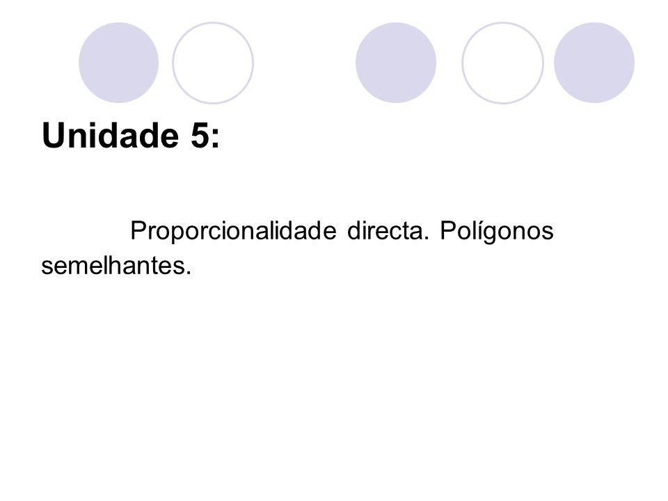 Proporcionalidade directa. Polígonos