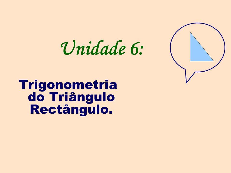 Trigonometria do Triângulo Rectângulo.