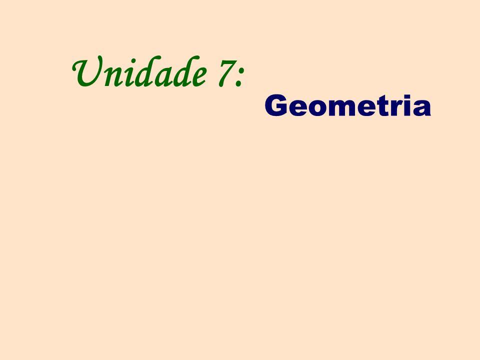 Unidade 7: Geometria