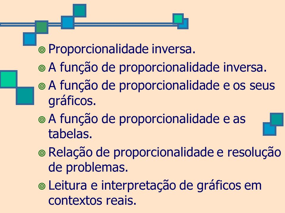 Proporcionalidade inversa.