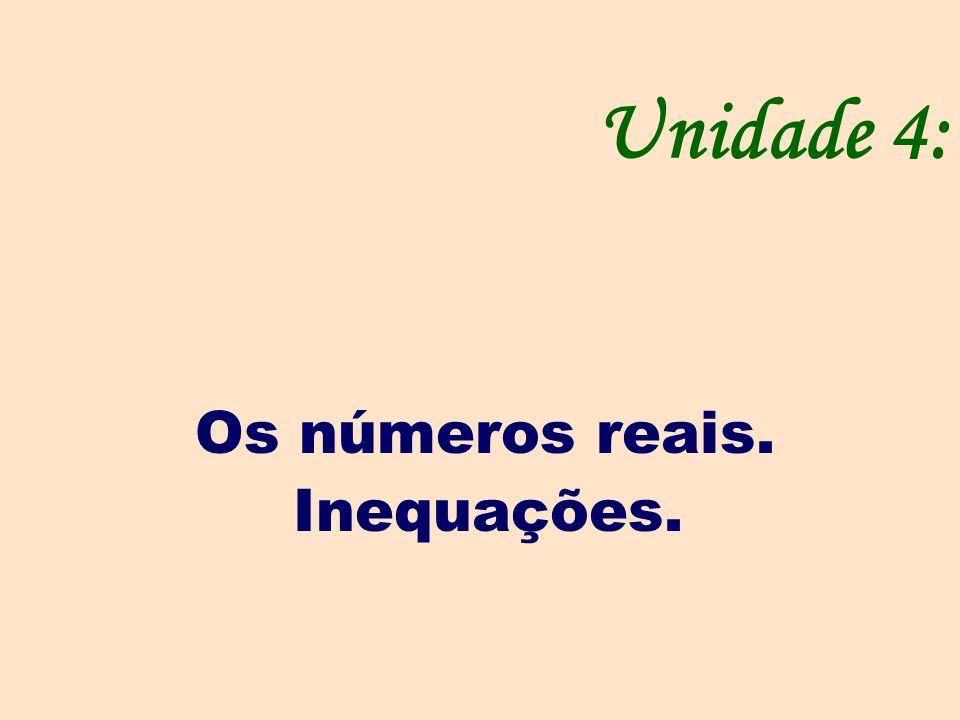 Os números reais. Inequações.