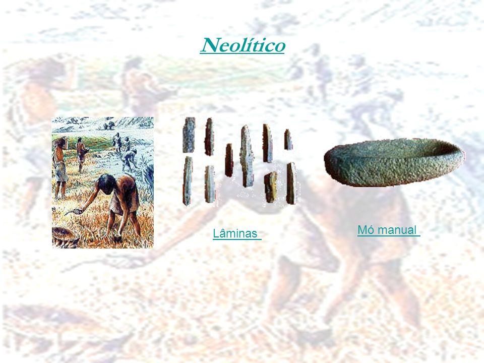 Neolítico Mó manual Lâminas
