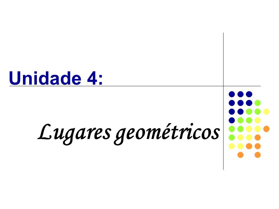 Unidade 4: Lugares geométricos