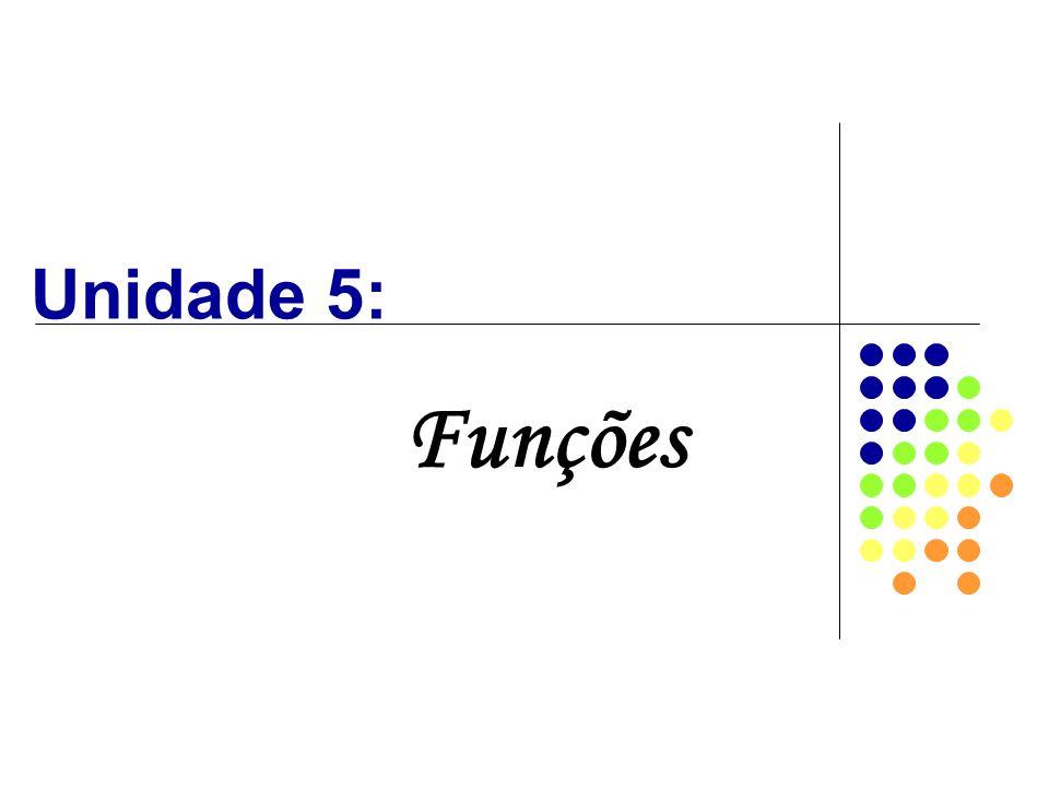 Unidade 5: Funções