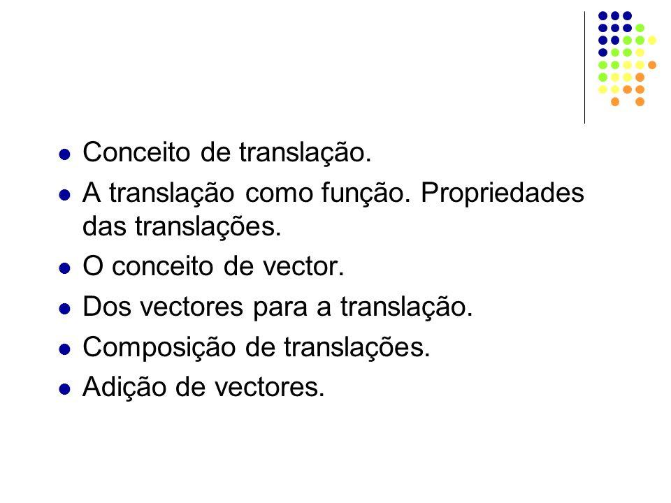Conceito de translação.