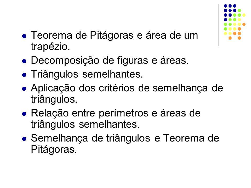 Teorema de Pitágoras e área de um trapézio.