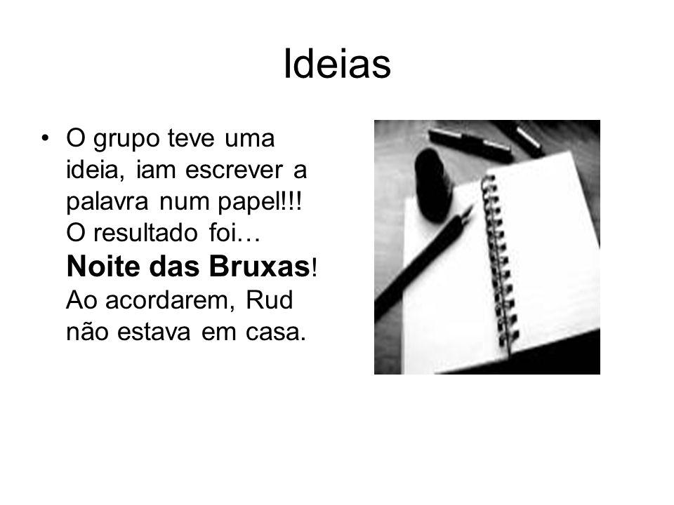 Ideias O grupo teve uma ideia, iam escrever a palavra num papel!!.