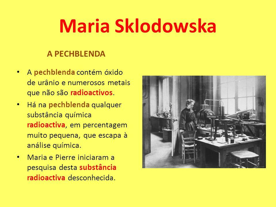 Maria Sklodowska A PECHBLENDA
