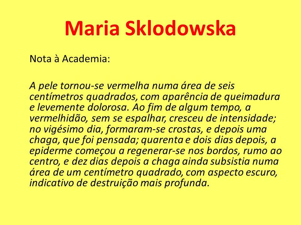 Maria Sklodowska Nota à Academia: