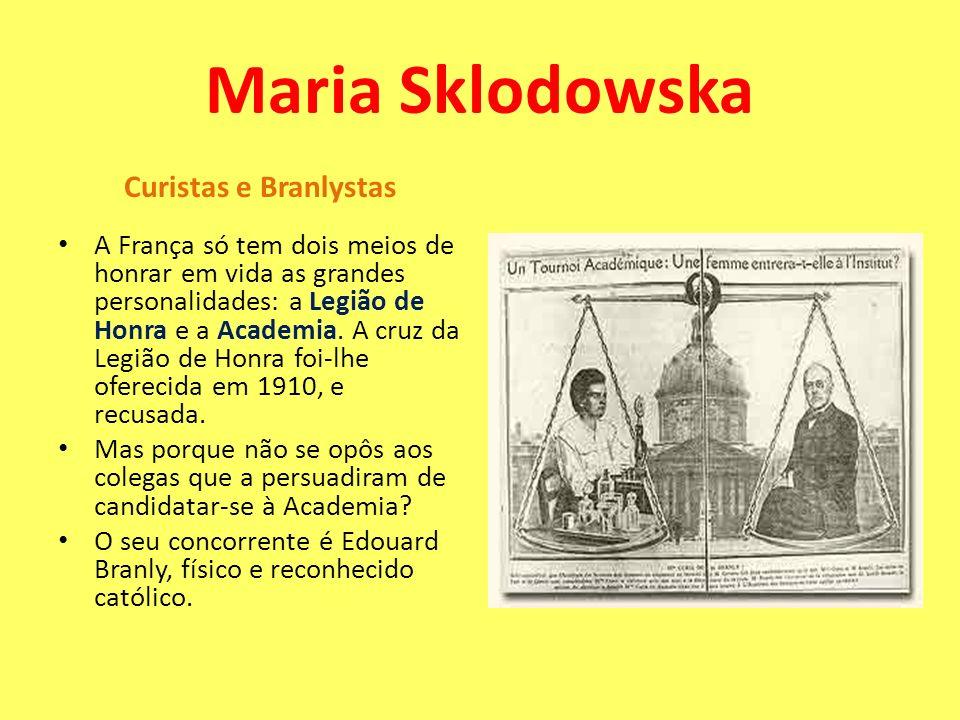 Maria Sklodowska Curistas e Branlystas