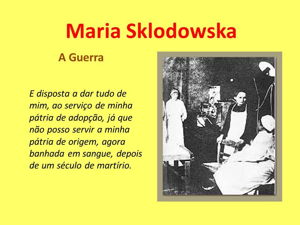 Maria Sklodowska A Guerra