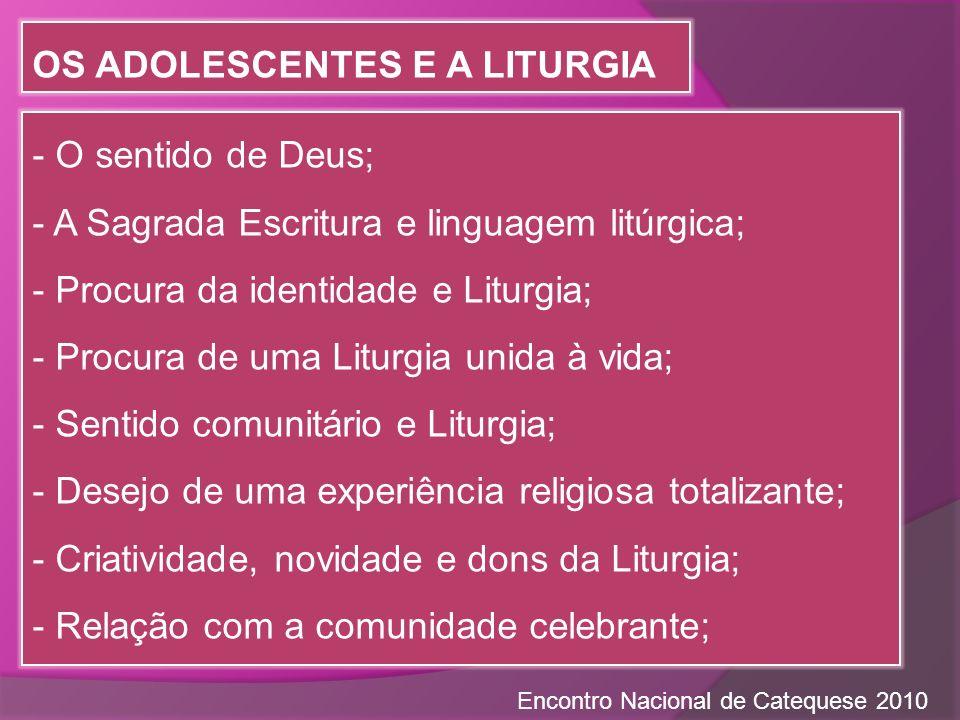 Os adolescentes e a Liturgia
