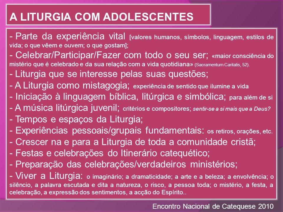 A Liturgia com adolescentes