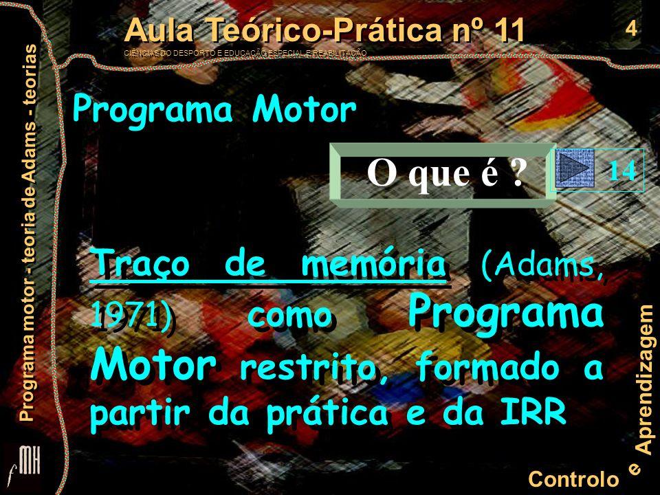 Programa Motor O que é . 14.