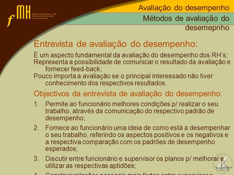 Entrevista de avaliação do desempenho: