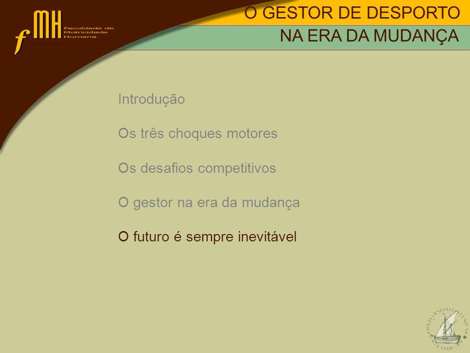O GESTOR DE DESPORTO NA ERA DA MUDANÇA Introdução