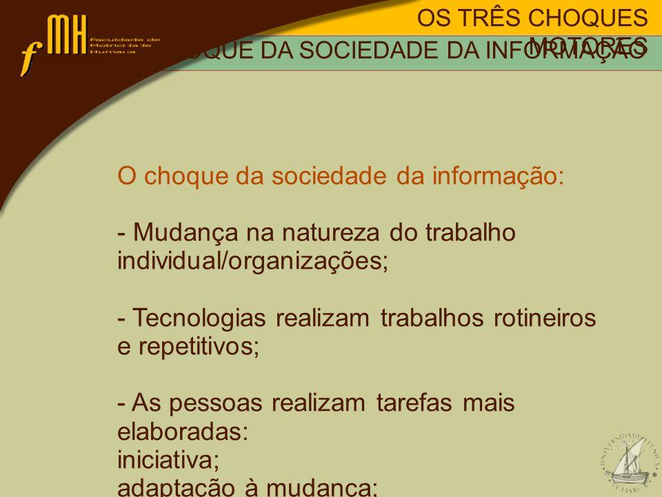 O choque da sociedade da informação: