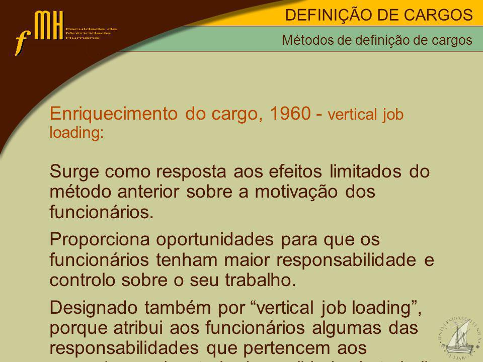 Enriquecimento do cargo, 1960 - vertical job loading: