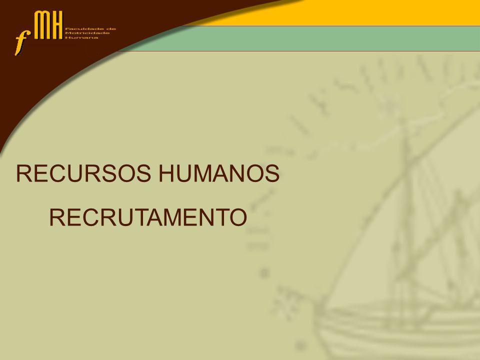RECURSOS HUMANOS RECRUTAMENTO