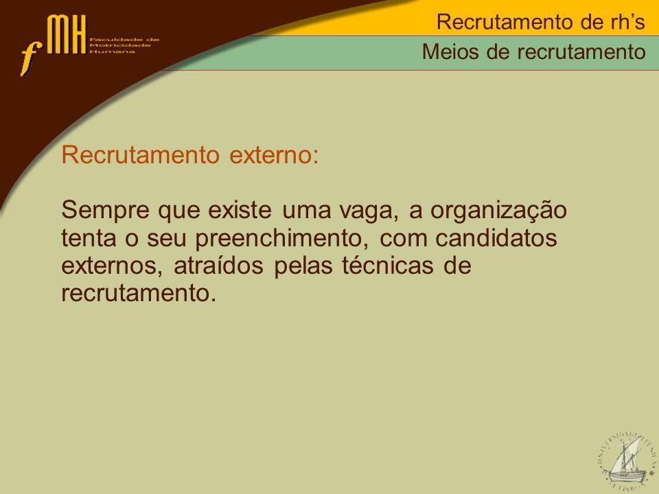 Recrutamento externo: