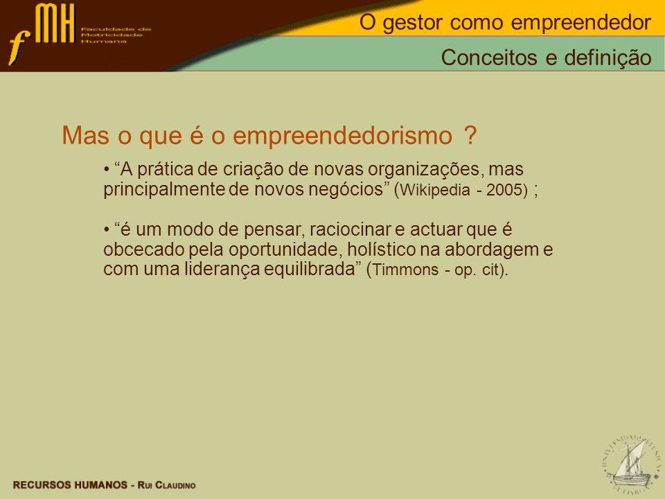 Mas o que é o empreendedorismo