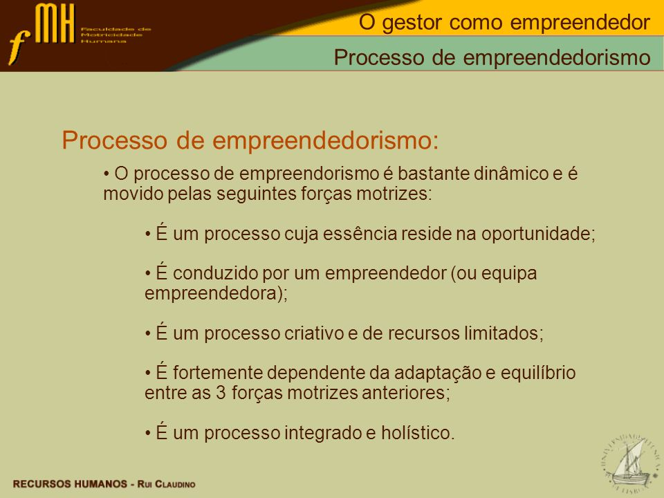 Processo de empreendedorismo: